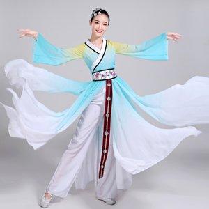 costume de danse folklorique chinoise pour la scène de vêtements de femme porter danse nationale fan antique Costumes traditionnels chinois FF1985