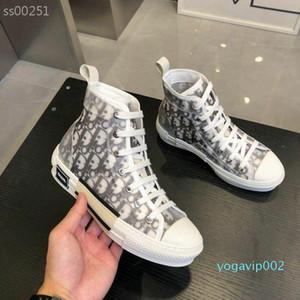 Лучшие продажи моды New 2 цвета High Top Женская обувь Стиль Luxurys холст обуви кроссовки Женщины Повседневная обувь Дизайнер кроссовки Размер 35-44