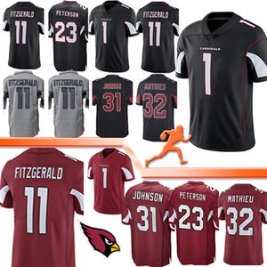 Cardinal 11 Larry Fitzgerald Football Jersey Arizona 23 Adrian Peterson 1 Kyler Murray 13 Kurt Warner 21 Patrick Peterson 31 David Johnson