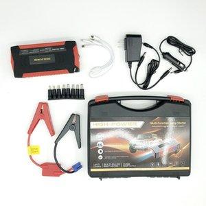 82800mAh 4USB 자동차 점프 스타터 다기능 비상 충전기 배터리 전원 은행 팩 12V 시작 장치 방수