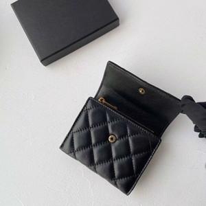 Monedero del cuero genuino Cena 2 colores 11x10cm tamaño carteras bolsos de piel de cordero Monederos con cremallera para las mujeres