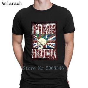 Punk Rock Великобритания Grunge Flag Mohawk Skull T Shirt S-3XL Удобный Создать шаблон Anti-Wrinkle Tee Рубашка Рубашка