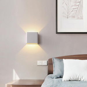 10w LED Outdoor Wall Light Up Down IP65 Waterproof dispositivos elétricos Branco Preto parede Modern Lâmpada AC85-265V Home Lighting