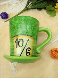 Alice nel paese delle meraviglie Cute Green Hat Mad ceramica tazza di caffè del regalo di compleanno della tazza