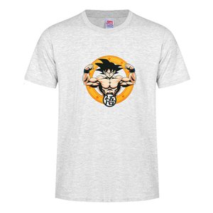 Anime casual Dragon Ball Goku T-shirt cotton men and women with the same T-shirt short-sleeved large size undershirt