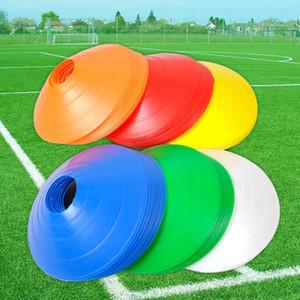 Entrenamiento de la velocidad de la Cruz 10PCS deporte al aire libre Fútbol Fútbol Rugby Entrenamiento de la velocidad del disco Cono Cruz pista de marcador Espacio línea patinando