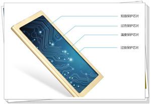울트라 얇은 태양 에너지 20000mAh 5V2A 2USB 전원 뱅크 미러 스크린 LED 디스플레이 외부 배터리 충전기 PowerBank