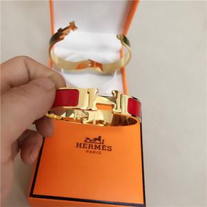 Prata de luxo de alta qualidade do esmalte de jóiasHbraceletes esculpidos para mulheres homens decorativo pulseira padrão com caixa de 2631