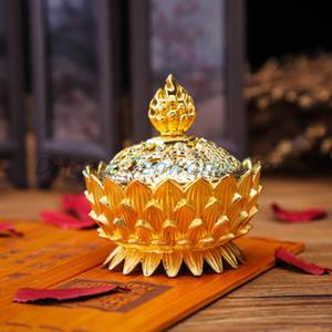 300PCS Alaşım Hollow Kapak Aromaterapi Fırını Lotus Şeklinde Tütsü Brülörler Double Dragon Kulak Hazineleri Ev buhurdanlıkların doldurun