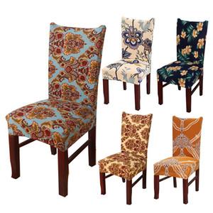 Copertura della sedia Flower Stampa Stretch sede Dining Chair Copre Protector Fodera hotel banchetto Sala da pranzo decorazione di nozze YT007