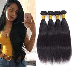 H Hot Hot B2b Wholesale Human Hair Extensions Unprocessed Brazilian Hair Weave Bundles 4 5 6 Pieces Silk Soft Straight Hair Weaving F