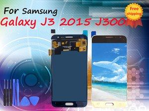 SUPER-AMOLED-Qualität LCD-Anzeige für Samsung Galaxy J3 2015 J300 J300F J300H Qualität LCD-Anzeigen-Screen mit freiem Verschiffen