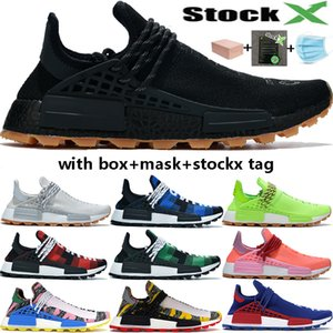 Nuevo Mejor NMD Human Race Pharrell Williams BBC Infinite Species Know Soul SUN CALM Solar Pack HU Trail hombres mujeres diseñador zapatillas