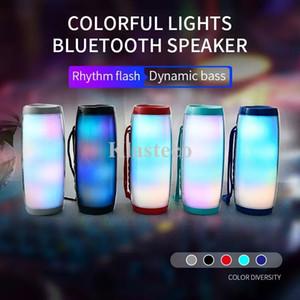 Impermeable Radio FM Radio Mini Columna Altavoces portátiles Bluetooth Wireless LED Bajo MP3 Subwoofer TV USB Sound Bar Caja Bocina Bluetooth