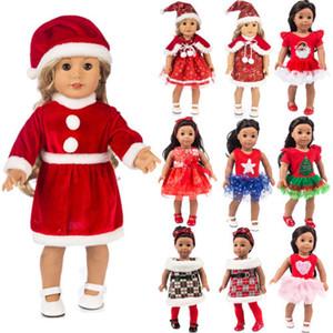 18 inç American Girl Hediye için ABD Noel Bebek Giyim Tutu Elbise Kıyafetler Seti