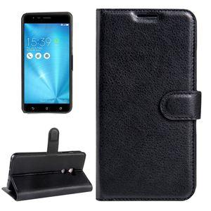 Для ASUS ZenFone 3 Увеличение / ZE553KL текстуры личи горизонтальной Флип кожаный чехол с магнитной Пряжка держатель карты Слоты Кошелек