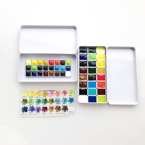 Holbain Plant 24-color Watercolor Pigments 0.5 Ml 1.5 Ml 2 Sub-packed 5 15 Suit