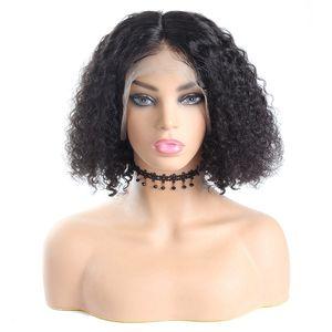 Ishow onda do corpo Curto Bob Wigs Remy Water Wave 13 * 4 peruca dianteira do laço Hetero Bob peruca Pré-arrancada brasileira profunda Curly perucas de cabelo humano