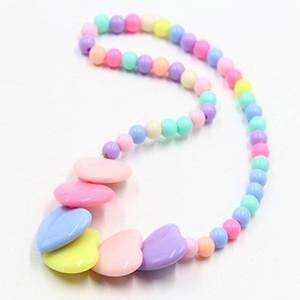 Gioielli Ragazze per i monili della collana di bambini borda il braccialetto sfera della resina di colore della caramella della principessa Baby collana multicolore Bambini