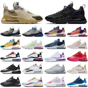 nike air max 270 react Travis Scott Eng Stock x Männer Frauen Laufschuhe Neon Triple Black Outdoor Herren Damen Trainer Sport Turnschuhe Läufer