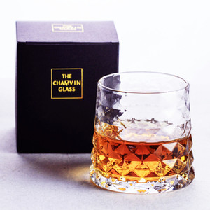 Nordic Style Prism Pattern Prismatic Whisky Tumbler Light Luxuries Prismatic Whiskey Old Fashioned Glass Vodka Cup XO Chivas Mug