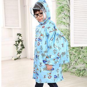 Poncho del fumetto del fumetto del cloak del mantello del cloak del cloak del cloak con il sacchetto maschio e femminile Baby Schoolbag Paincoat CVOHB