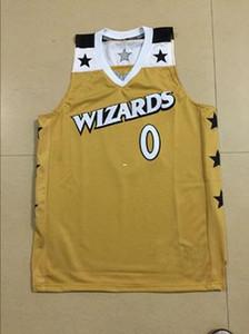 Retro barato # 0 Gilbert Arenas Basketball jerseys costura sportswear ouro colete juventude Top Mens Crianças Jersey NCAA