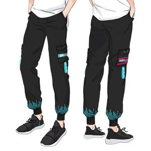 2020 New Street Хэллоуин Унисекс Япония аниме Hatsune Miku косплей костюм повседневные брюки Брюки (Азиатский размер)