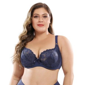 1pc Drop Shipping Service - Womens PLUS SIZE 40 90E-46 105E Sexy Lace Adjustable Underwired E Cup Bra Style Number 1002