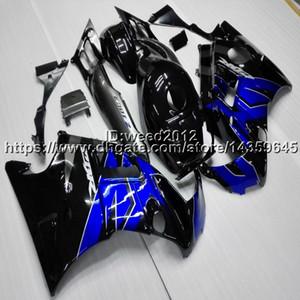 23colors + azul carenado de la motocicleta negro de encargo para HONDA CBR600F2 1991 1992 1993 1994 CBR 600 91 92 93 94 ABS Carenado motor