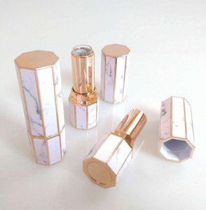 Marble Lipstick Tubes Octangle Empty Lip Gloss Tube Lipstick Lip Plastic Bottles Travel Cosmetic Bottle Containers Packing Bottles GGA2355