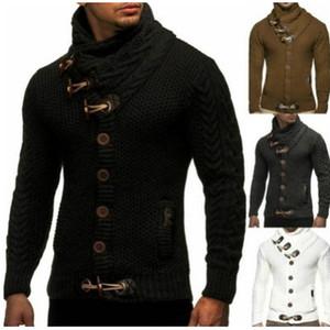 Hommes Fashion Cardigan Pulls pour hommes Mens Solid Couleur Slim Vêtements Mens Casual Nouveautés Nouveautés Vêtements d'hôte Hiver