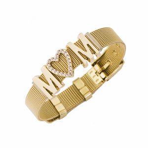 Keeper Group Combine Bracelet Diamond Mom Stainless Steel Watchband