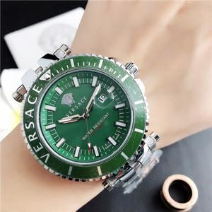 Yeni 45MM erkekler yeşil lüks tasarımcı marka mens watch orologio di lusso paslanmaz çelik moda kol saati hediyeler erkek atmos saati saatler