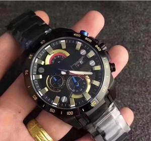 classique de la mode Livraison gratuite EFR540 série Designer multi-fonctions en acier inoxydable montres bracelet à quartz mouvement EF-540 avec la boîte