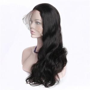 HCDIVA 360 del frente del cordón del cabello humano pelucas para mujeres Negro Pre desplumados 150% Densidad del cuerpo de la onda profunda floja rizado rizado brasileño