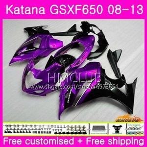 Kit Pour SUZUKI KATANA GSX650F GSXF 650 GSXF-650 08 09 10 11 12 13 14 14HM.0 GSXF650 2008 2009 2010 2011 2011 2012 2014 2014 Carénage Violet noir