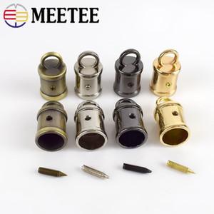 Meetee 금속 스토퍼 버클 핸드백 스트랩 술 프린지 캡 걸쇠 커넥터 걸이 로프 코드 잠금 DIY 하드웨어 액세서리