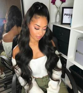 Noir Nouveaux Femmes Filles Cute Péruvienne Human Heavy Head Long Quatrie de queue de jolie extensions de cheveux 160g