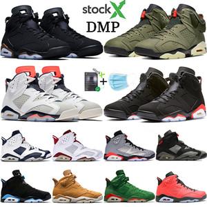 New DMP Travis scotts 6 6s basquetebol dos homens sapatos Alternate Hare Olímpicos de Londres preto infravermelho homens Oreo CNY Jumpman sneakers EUA 7-13