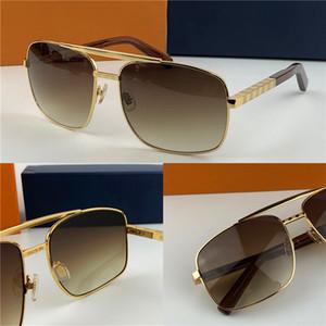 nouveau cadre d'or de l'attitude classique des lunettes de soleil mode cadre carré en métal style vintage conception extérieur modèle classique 0259