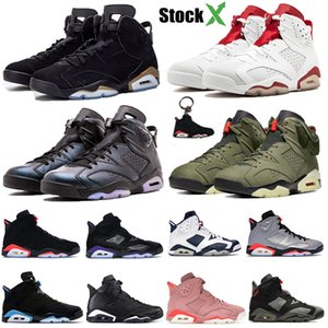 2020 DMP 6 Men Basketball Shoes UNC 6S alternate Hare Travis olive black infrared Jumpman trainers Reflective silver stylist Sneakers