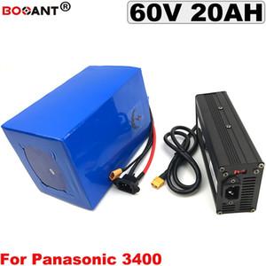 60V 20AH Batería de litio de bicicleta eléctrica Batería de bicicleta eléctrica 60V para Bafang BBSHD 1000W 1500W Motor + 5A Cargador Envío gratis