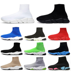 top quality platform sock designer shoes men women luxury speed trainers vintage tripler black white étoile Graffiti socks boots sneakers