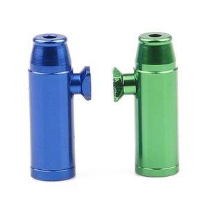 1pc Metal Smoke Sniffer Flat Bullet Rocket Sniffer Snorter Snuff Bullet Sniffer Dispenser Somking Accessories