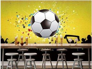 murales del papel pintado 3D para las paredes 3 d barra del fondo del partido del carnaval de KTV pared de fútbol sala de estar 3d wallpaer personalizada decoración mural fotográfico en casa