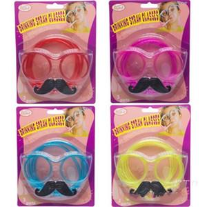 Смешные очки Пипетка Креативный Weird очки Борода соломы Игры Prop для Birthday Party для взрослых и детей различных цветов 1 61sxH1