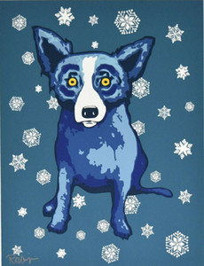 George Rodrigue Blue Dog Sie Left Me In The Cold Home Decor Handbemalte HD-Druck-Ölgemälde auf Leinwand-Wand-Kunst-Leinwandbilder 200113