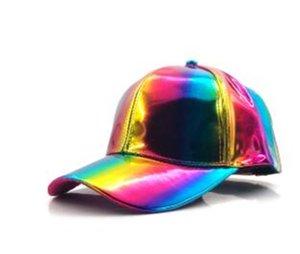 Luxus Art und Weise Hip-Hop-Hut für Rainbow Farbwechsel-Hut-Kappe Zurück in die Zukunft Prop Bigbang G-Dragon Baseball Cap
