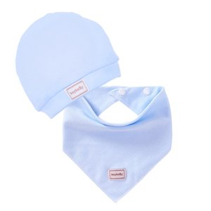 New Baby Bibs Kids Burp Cloths Pure Cotton Infant Saliva Towel Adjustable Bibs With Head Hat Children's Clothing Accessories